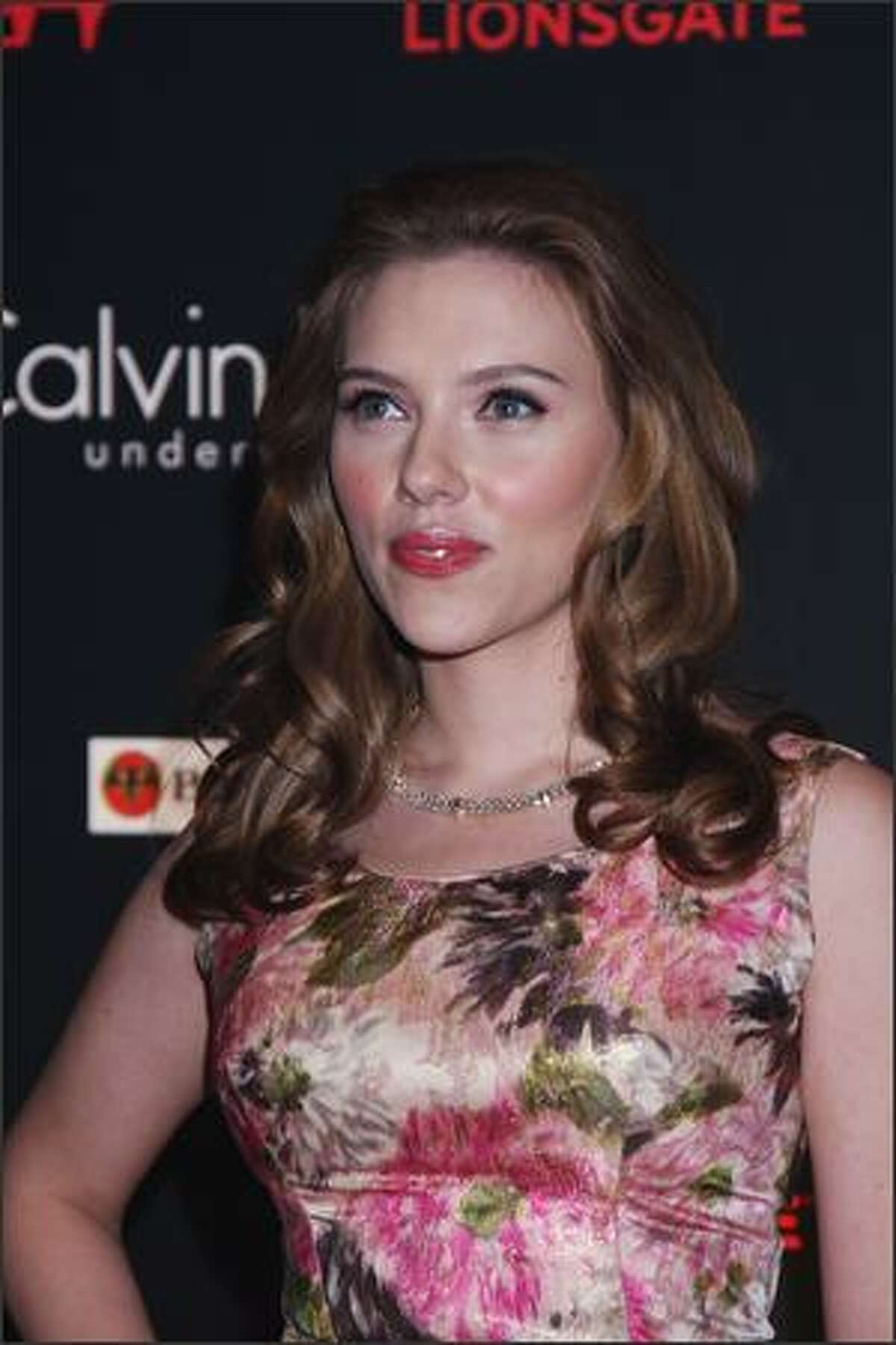 Scarlett Johansson attends The Spirit launch party in London, England.