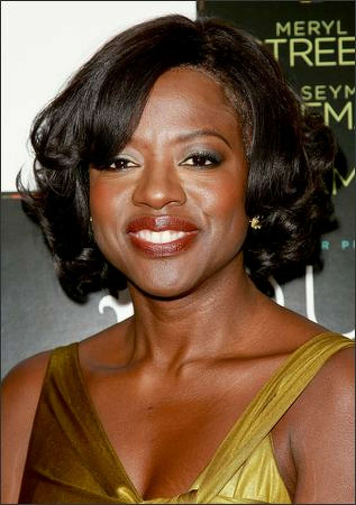 Actress Viola Davis attends the premiere of