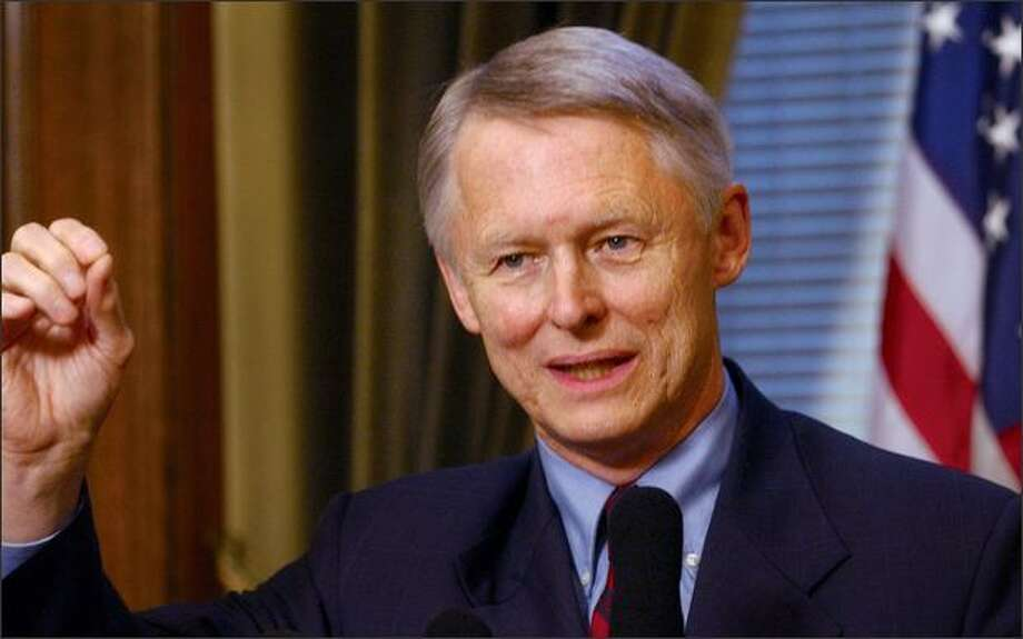 "Ex-Secretary of State Sam Reed:  Republican Party is no place for ""wacky"" white nationalists.  Photo: / Associated Press"