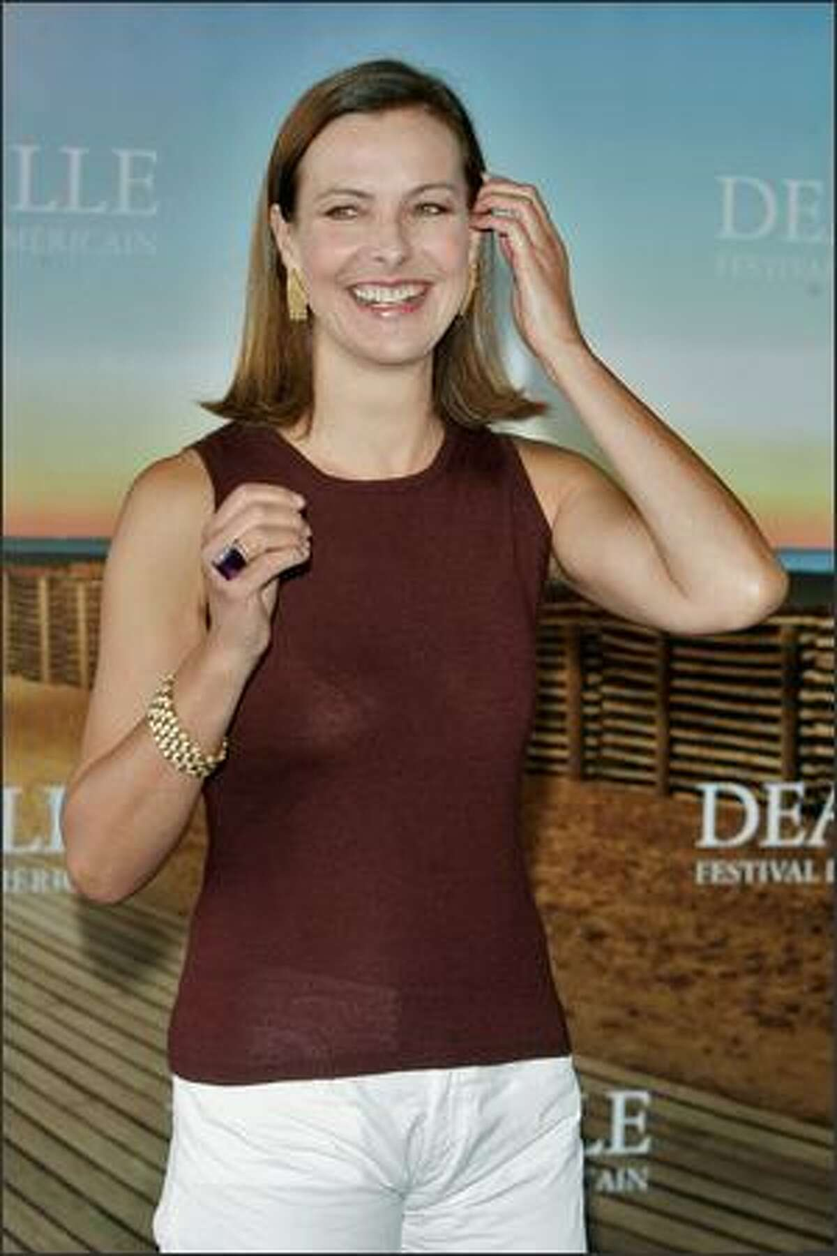 Head of the jury, French actress Carole Bouquet arrives at a jury photocall during the 34th Deauville Film Festival on Monday in Deauville, France.