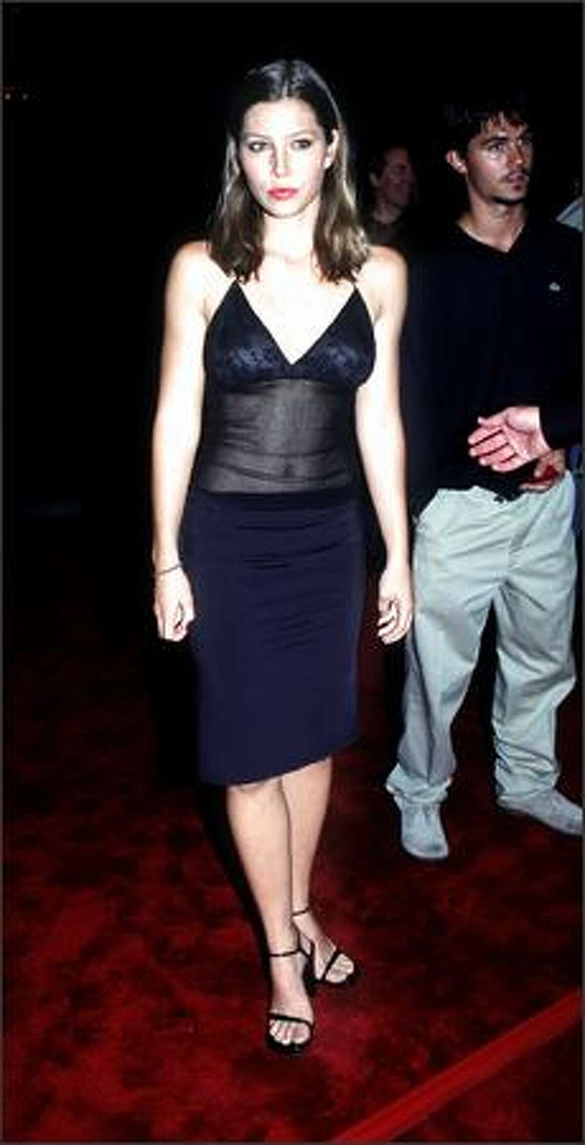 Jessica Biel at the premiere of