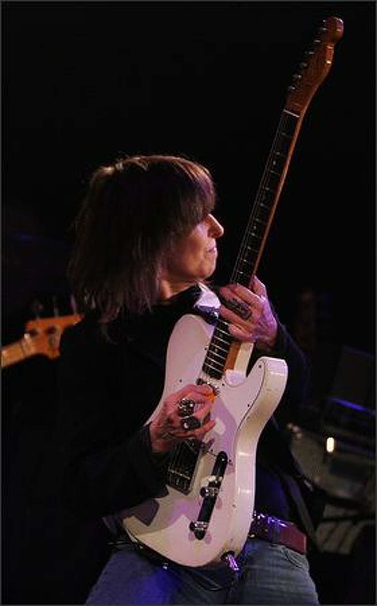Chrissie Hynde and The Pretenders perform during the 103.7 The Mountain Winter Warmth Concert at The Paramount Theatre on Saturday.