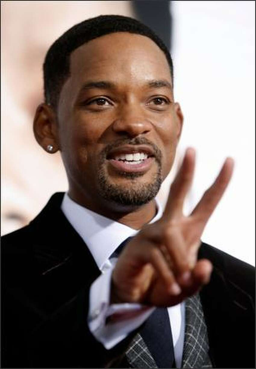 Actor Will Smith arrives at the premiere of Columbia Pictures'