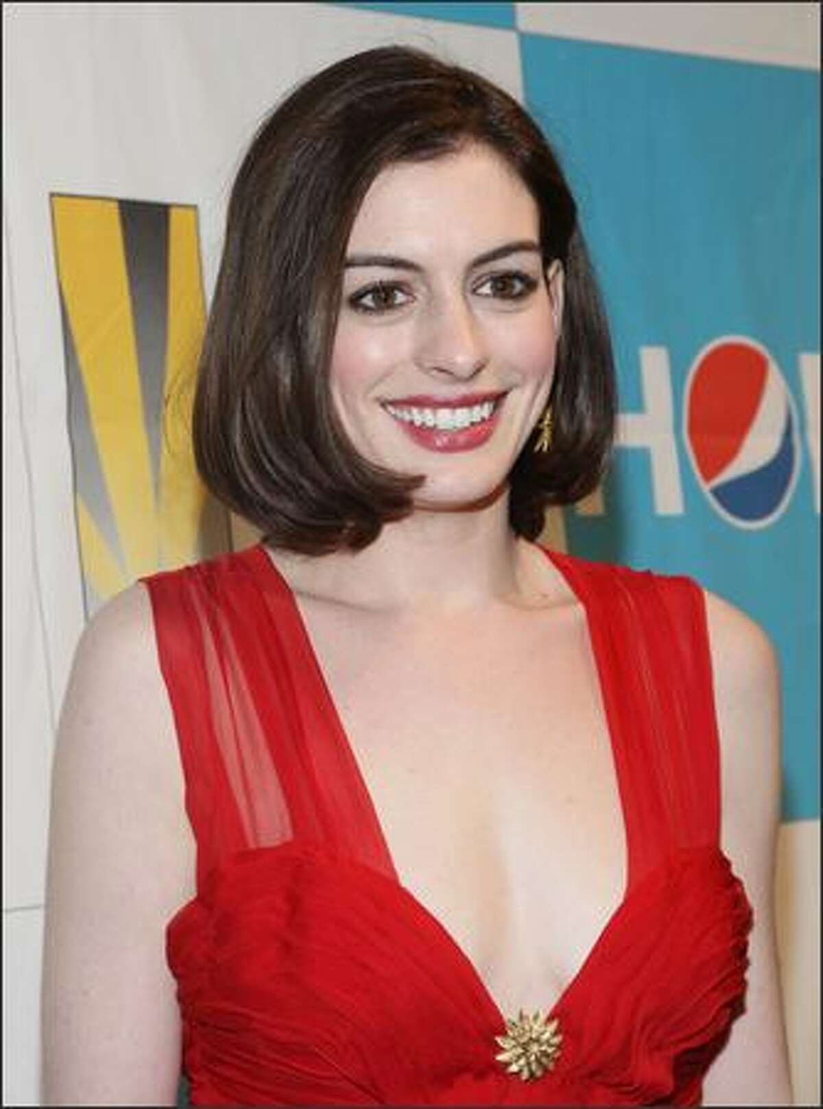 Actress Anne Hathaway attends the Creative Coalition's 2009 Inaugural Ball at the Harman Center for the Arts on Tuesday in Washington, DC.