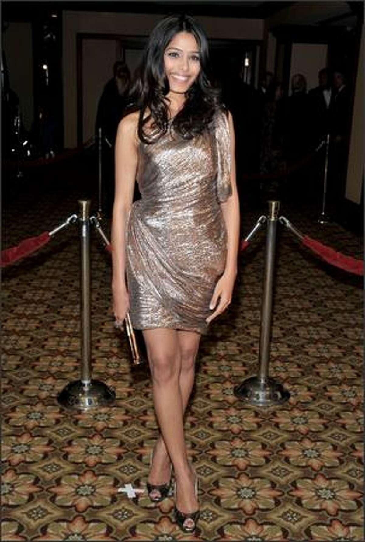 Actress Freida Pinto arrives.