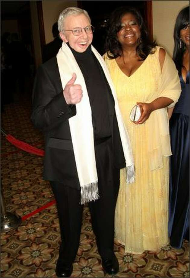 Film critic Roger Ebert (left) and his wife Chaz arrive. Photo: Getty Images