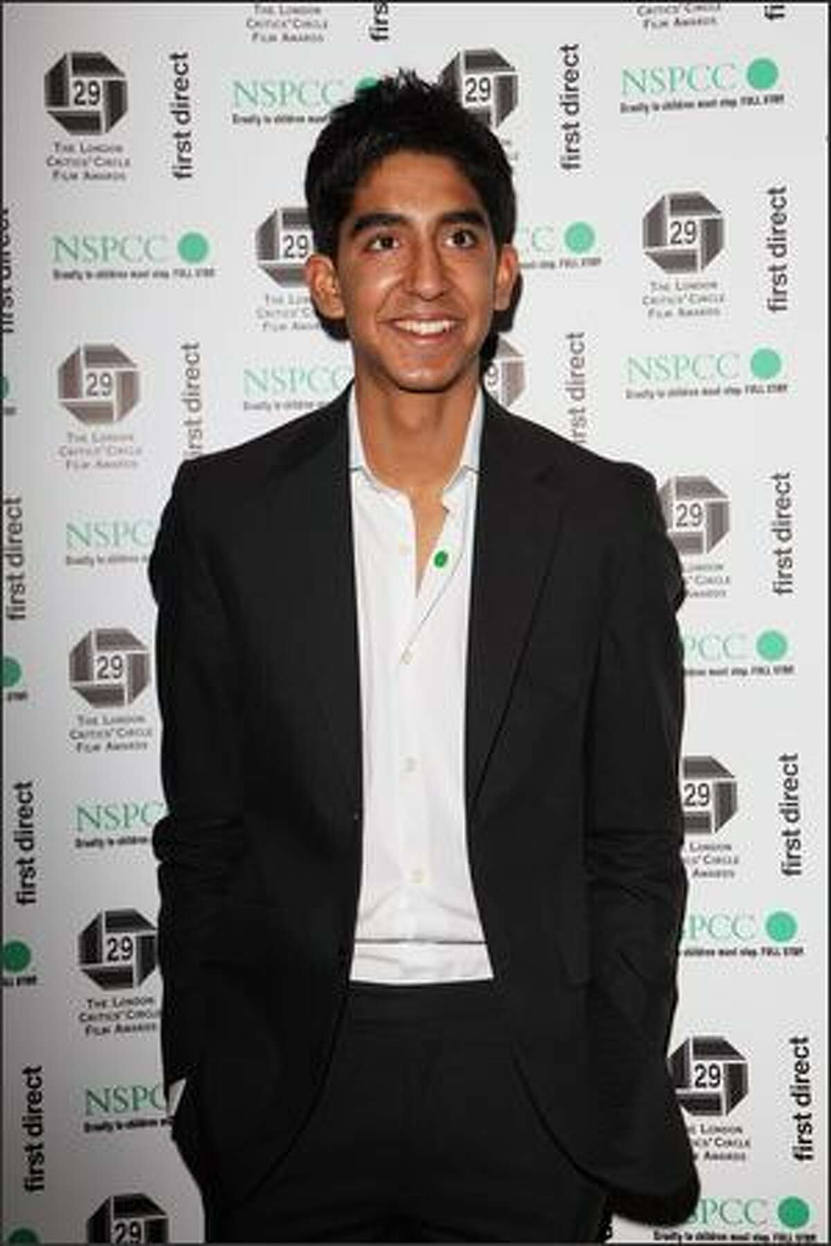 Actor Dev Patel attends The London Critics' Circle Film Awards 2009 at the Grosvenor House Hotel on Monday in London.