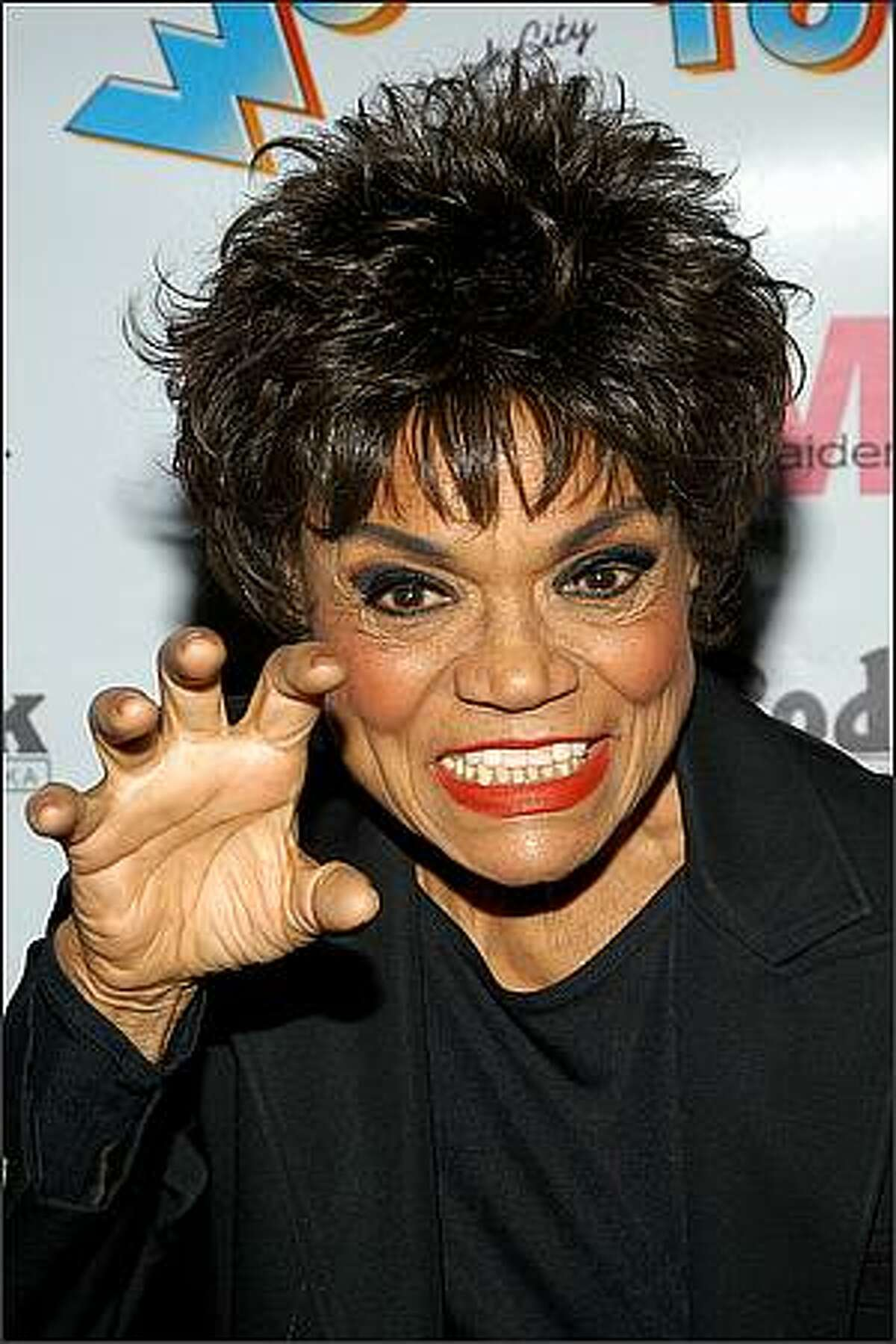 Actress Eartha Kitt arrives at the after party for the opening night of the Broadway musical Wonderful Town at the Mandarin Oriental Hotel in New York City. (Photo by Lawrence Lucier/Getty Images)