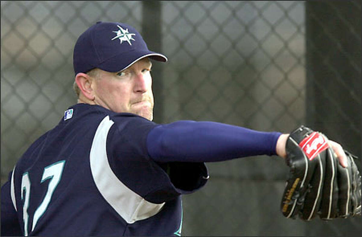 Mariners reliever Norm Charlton has not pitched in a major league game since October 2001.