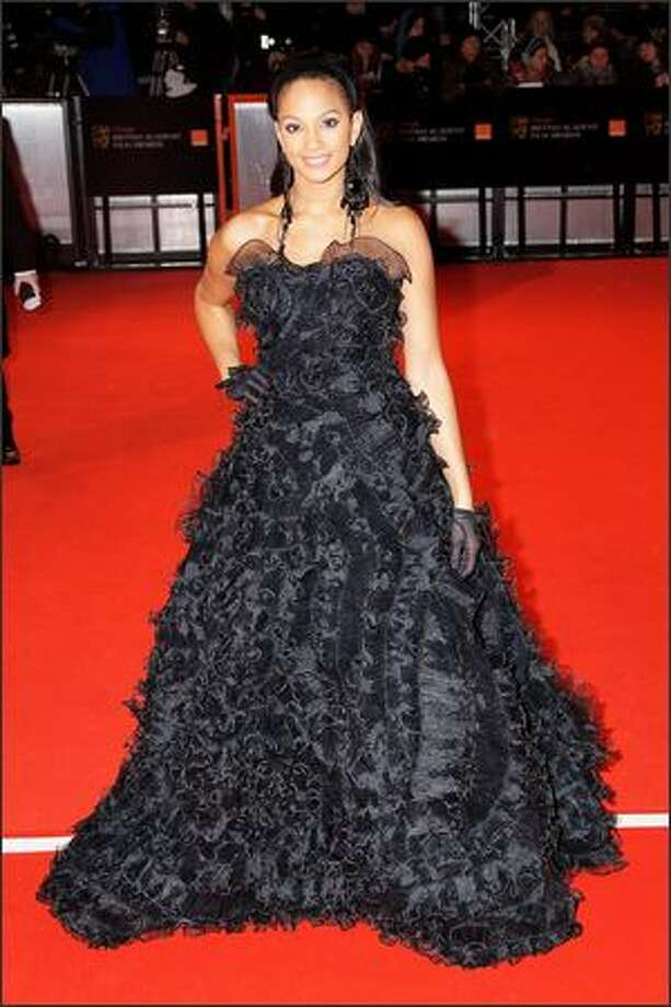 Alysha Dixon attends The Orange British Academy Film Awards at the Royal Opera House, Covent Garden, on Sunday in London. Photo: Getty Images
