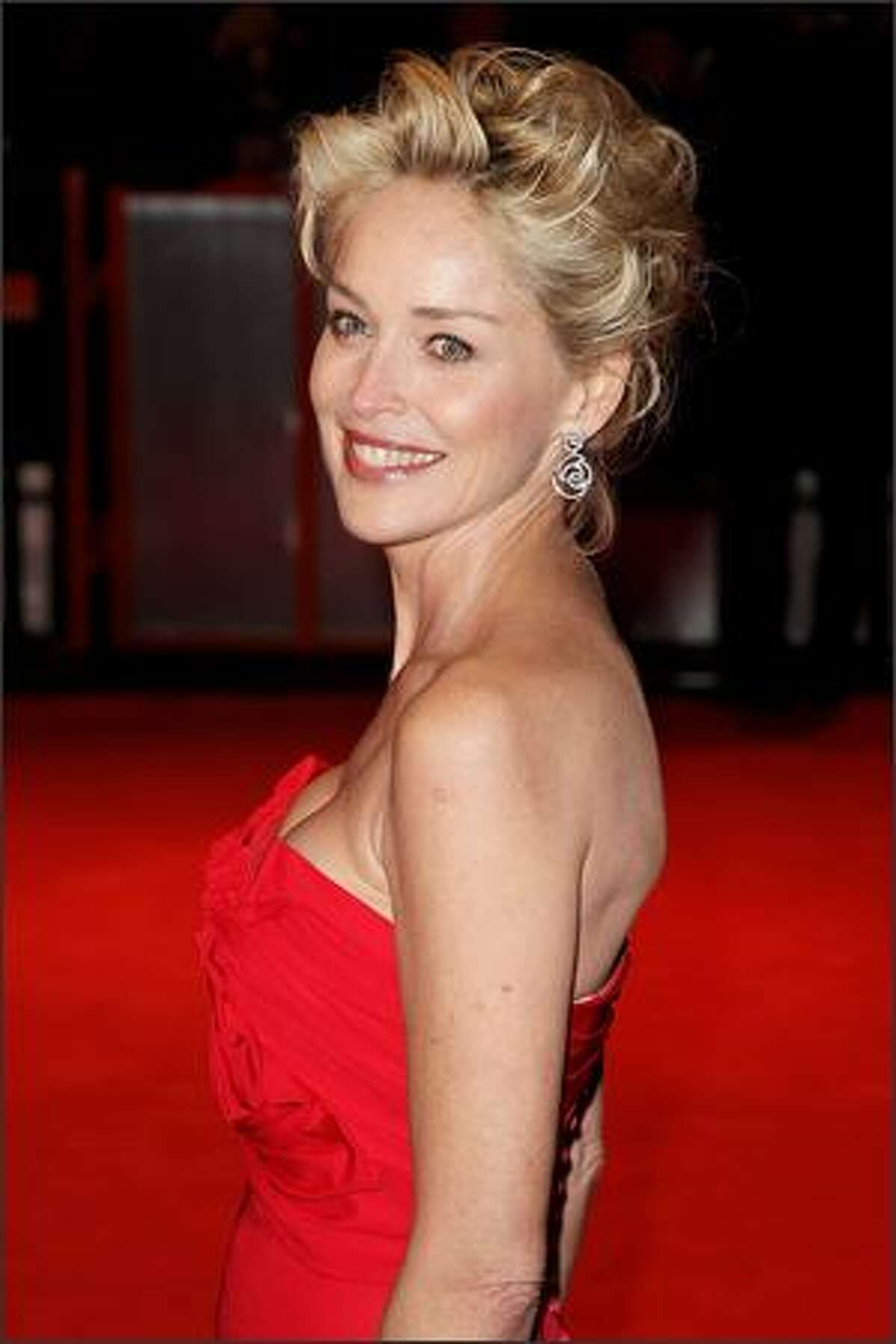 Sharon Stone attends The Orange British Academy Film Awards at the Royal Opera House, Covent Garden, on Sunday in London.