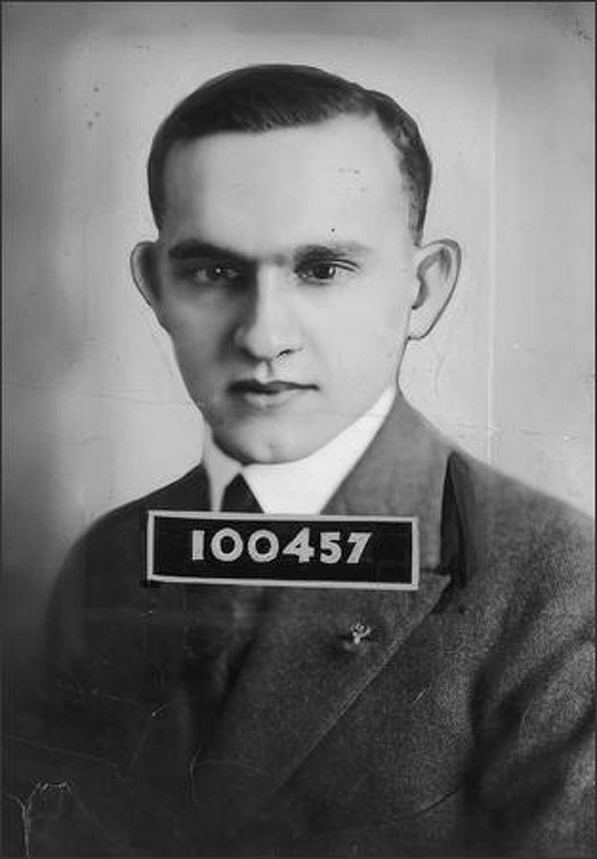 Brougham was promoted to managing editor of the P-I in 1925, the year this P-I identity card photo was taken. He lasted three years before returning to the helm of the sports department.