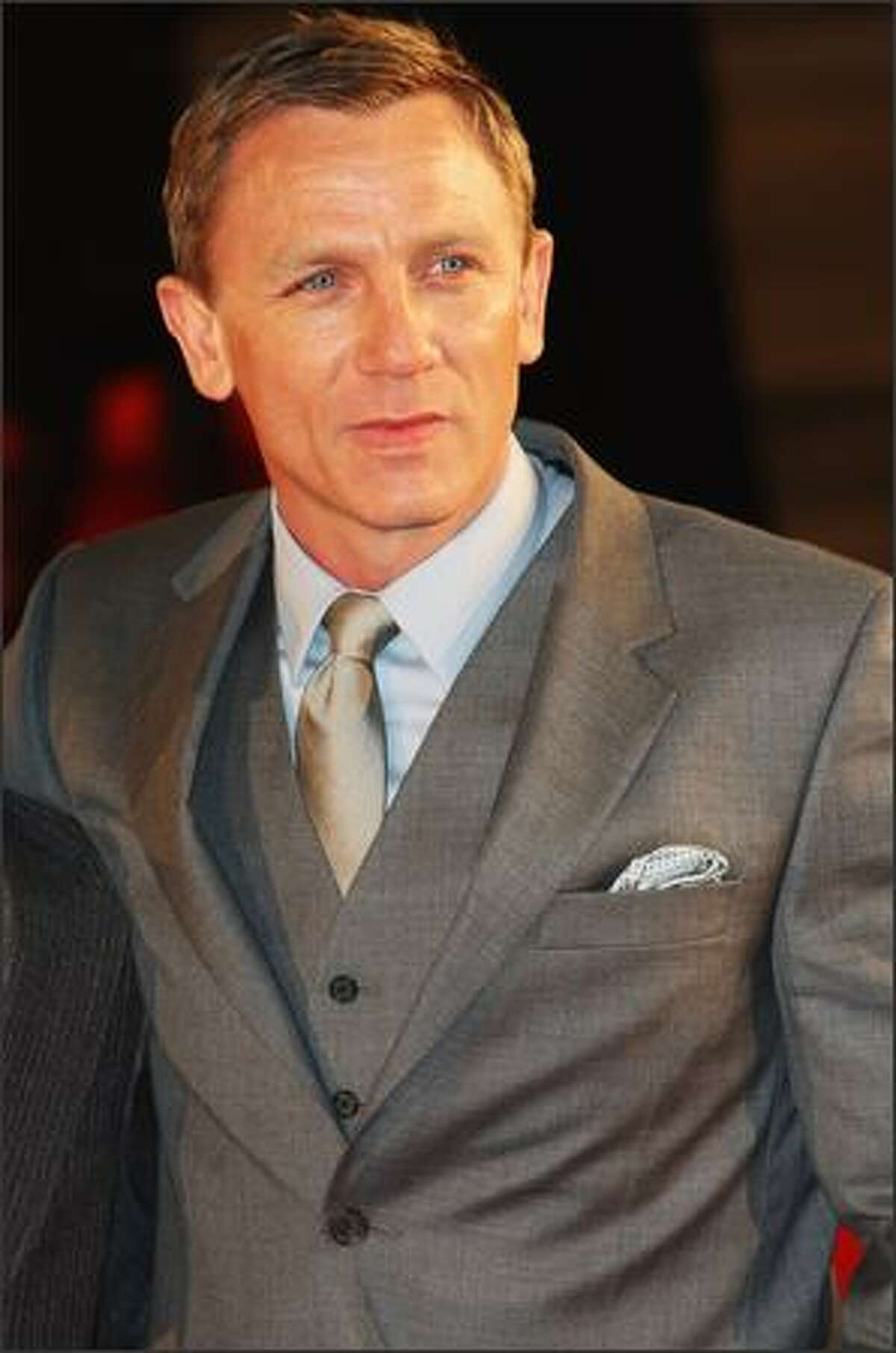 Actor Daniel Craig arrives at the European Premiere of 'Defiance' at the Odeon West End cinema, Leicester Square on Tuesday in London, England.