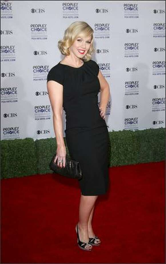 Actress Jennie Garth arrives at the 35th annual People's Choice Awards held at the Shrine Auditorium in Los Angeles on Wednesday night. Photo: Getty Images