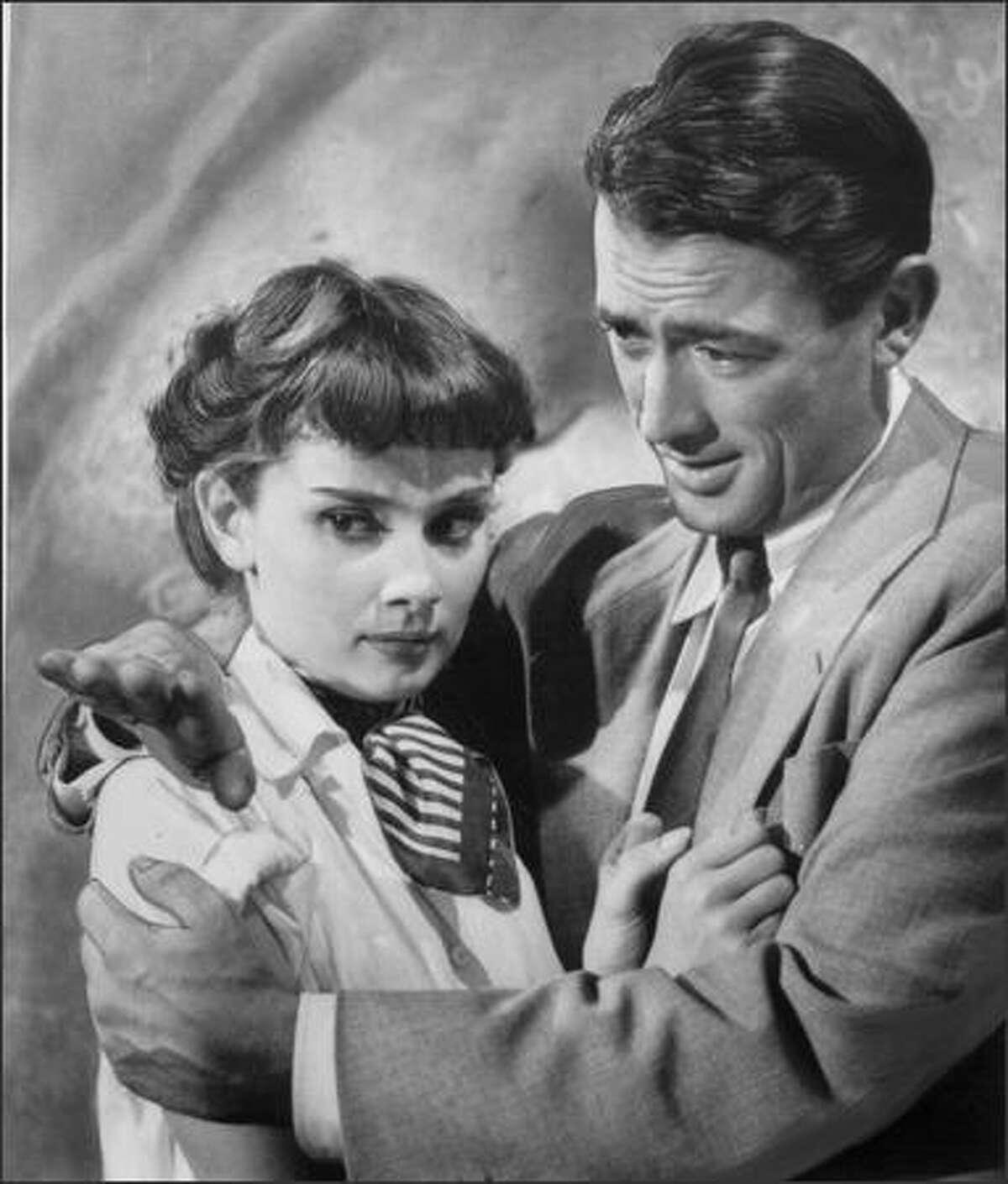 Audrey Hepburn and Gregory Peck in