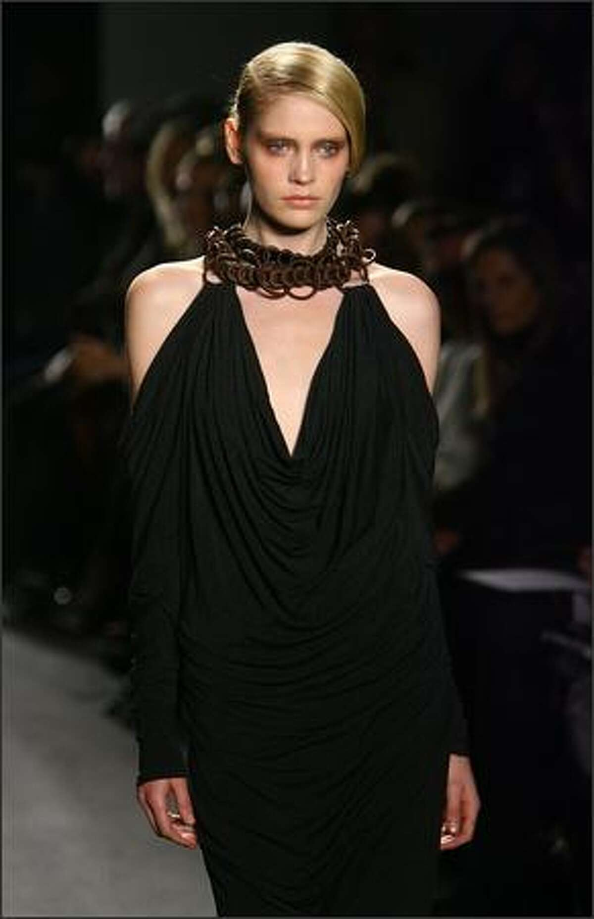 A model walks the runway at the Donna Karan Collection Fall 2009 fashion show during Mercedes-Benz Fashion Week in New York City.