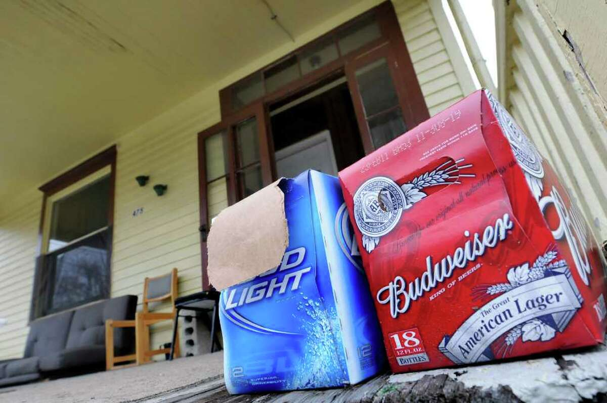 View of a porch on Hamilton Street in Albany, N.Y. (Cindy Schultz / Times Union)