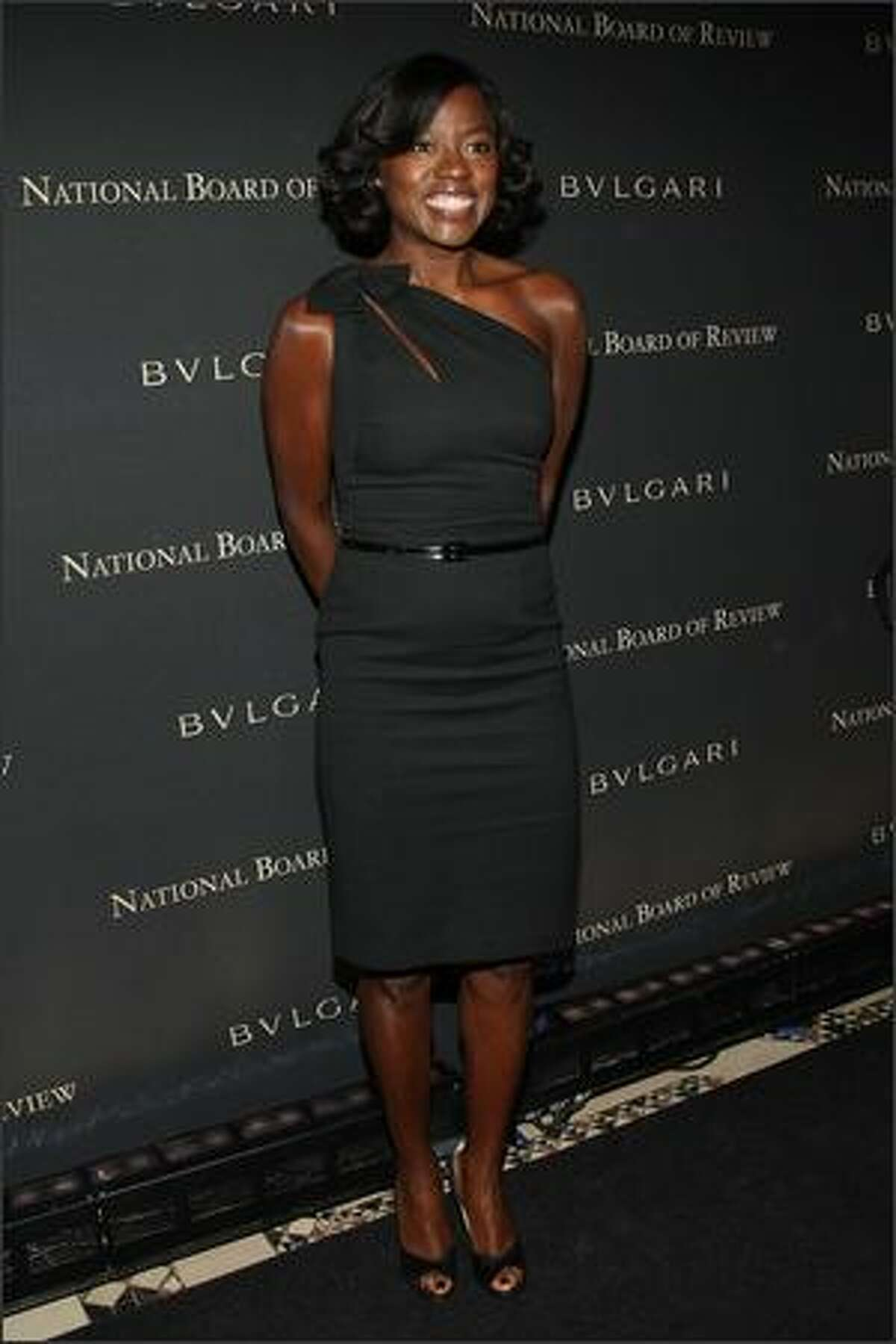 Actress Viola Davis attends the 2008 National Board of Review awards gala at Cipriani in New York on Wednesday.