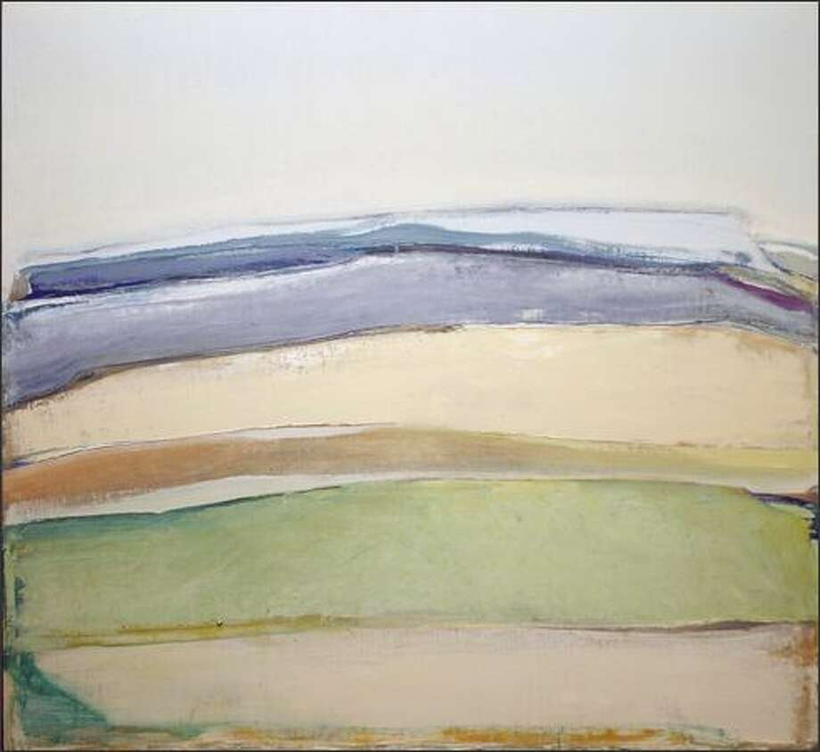 "Michael Dailey's ""New Morning Landscape,"" from 1968, when he was still painting with oil. Photo: /"