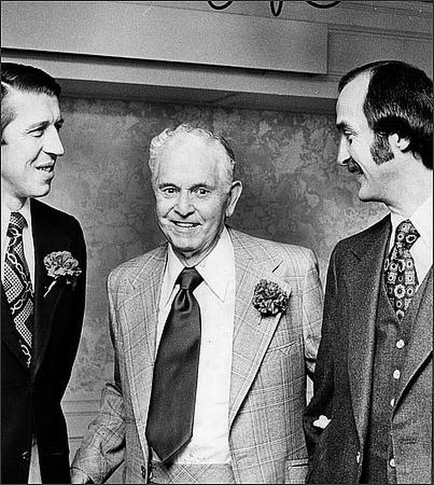 01.07/1976 - (l to r) Don Bies, Earl Averill, and Cliff McGrath.