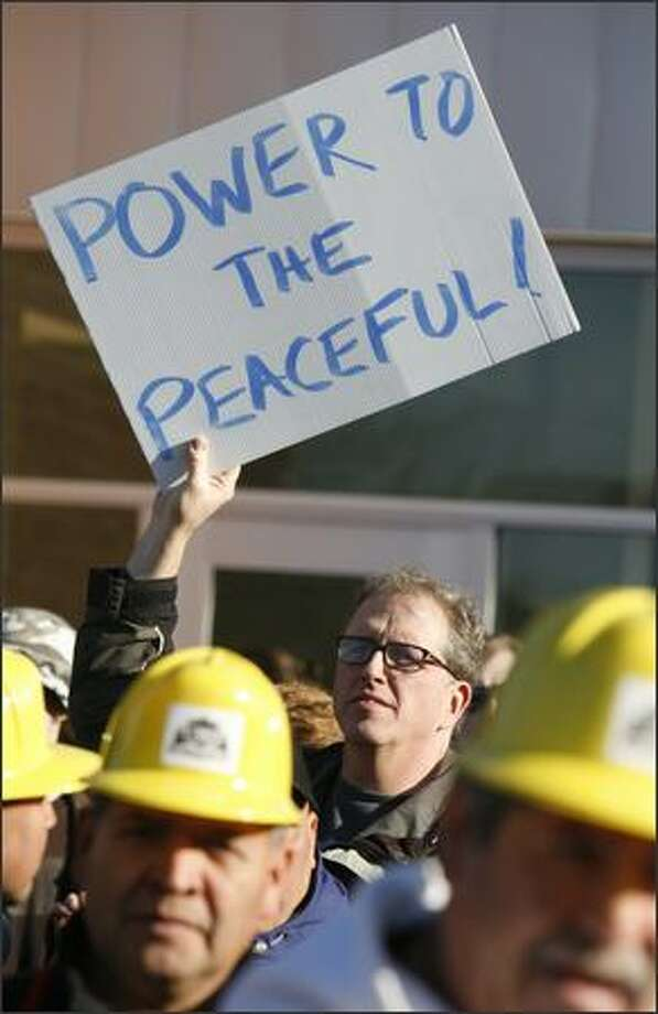 A participant in the 27th annual Martin Luther King celebration. Photo: Paul Joseph Brown, Seattle Post-Intelligencer