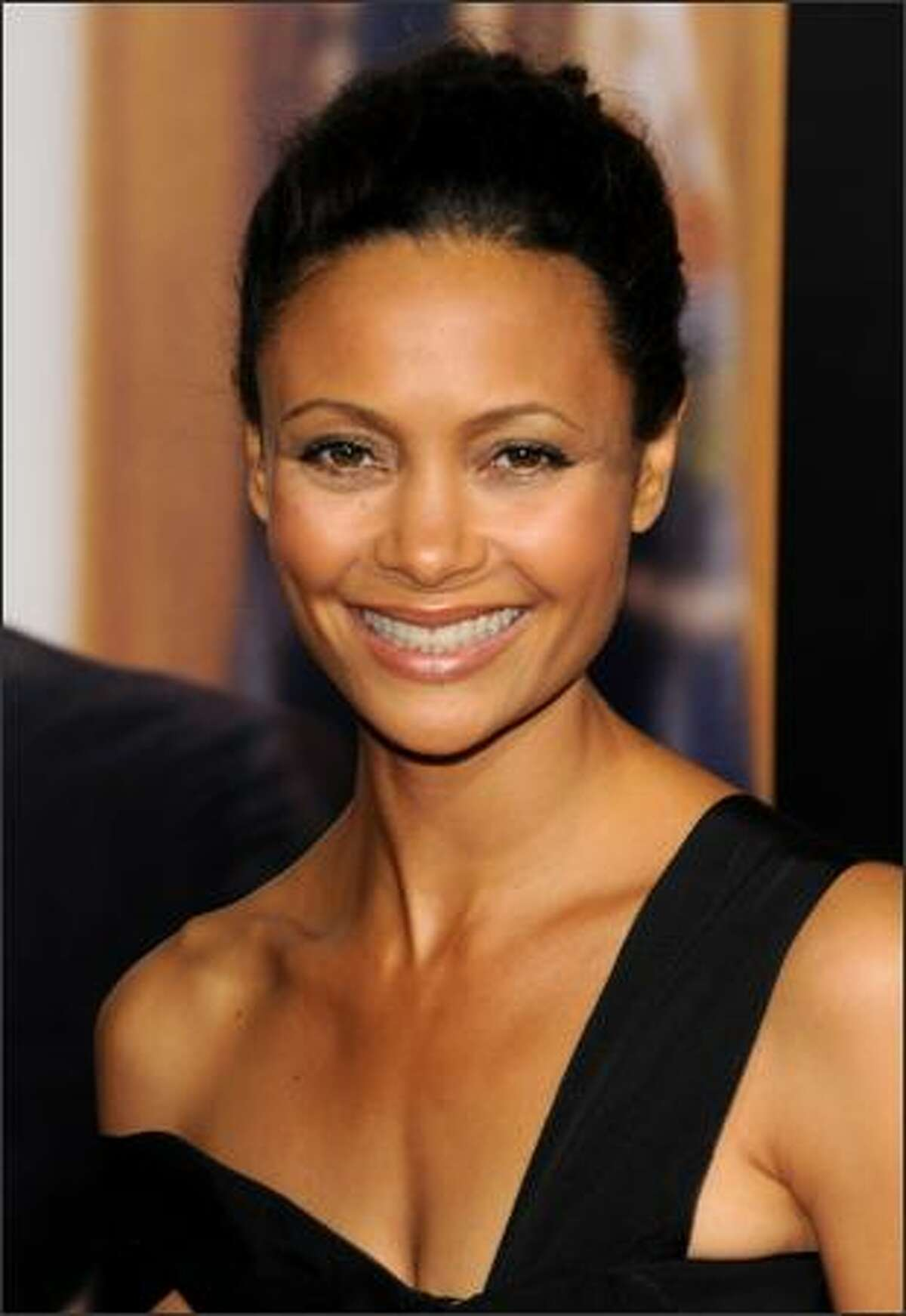 Actress Thandie Newton arrives at the New York premiere of