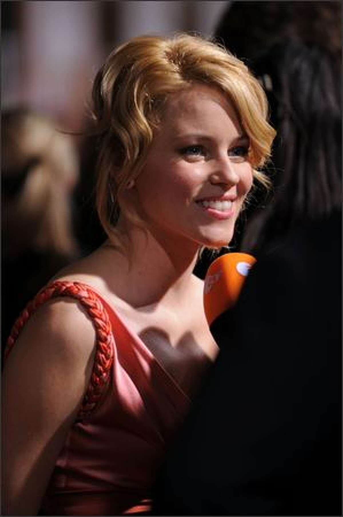 Actress Elizabeth Banks arrives at the New York premiere of