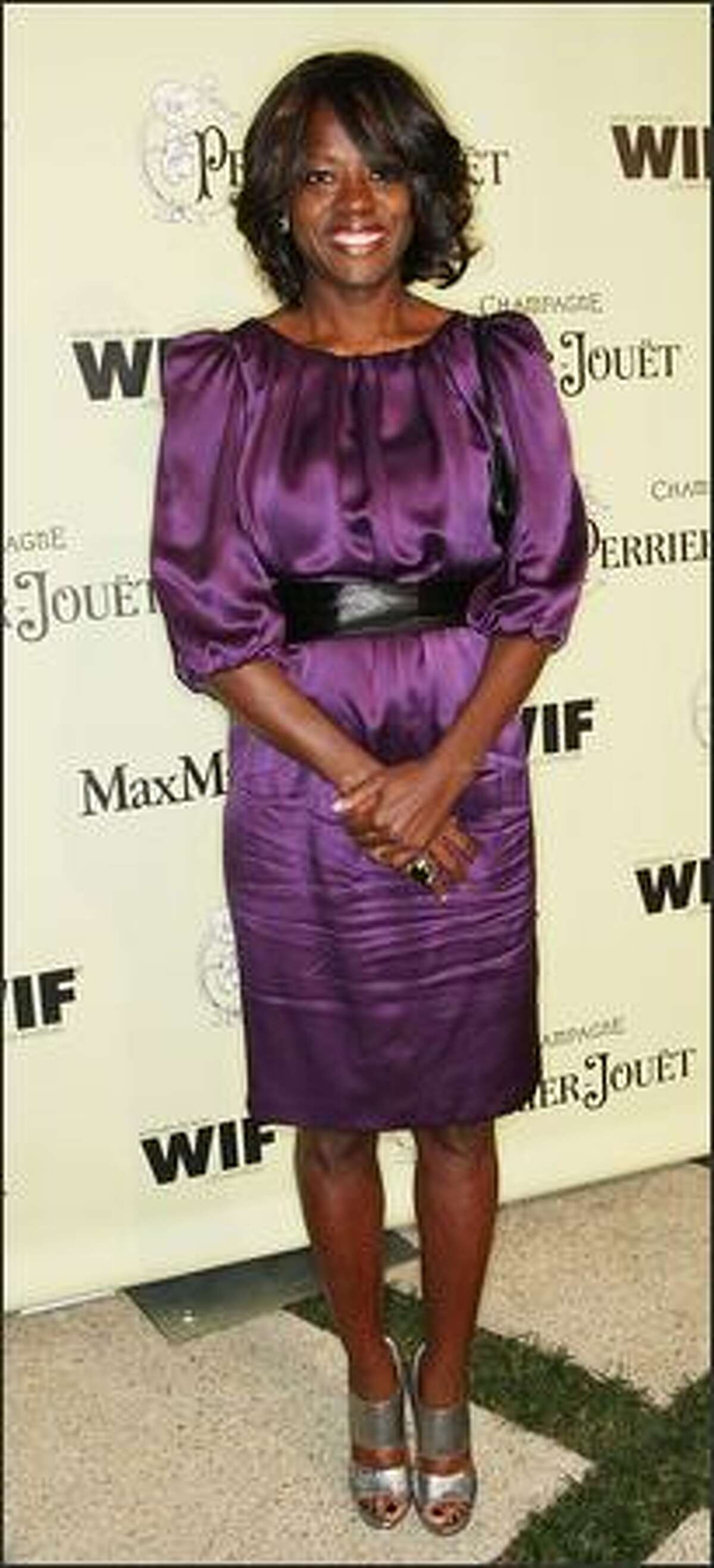 Actress Viola Davis attends the party.