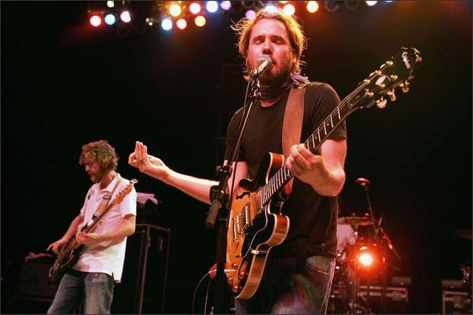 """Broken Social Scene is still together because """"we still like each other, and we like the music we make,"""" says Brendan Canning, left, seen here with co-founder Kevin Drew. Photo: / Getty Images"""