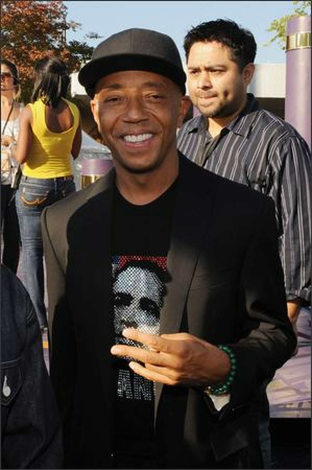 Russell Simmons attends the 2008 BET Hip-Hop Awards at The Boisfeuillet Jones Atlanta Civic Center on Saturday in Atlanta, Georgia.
