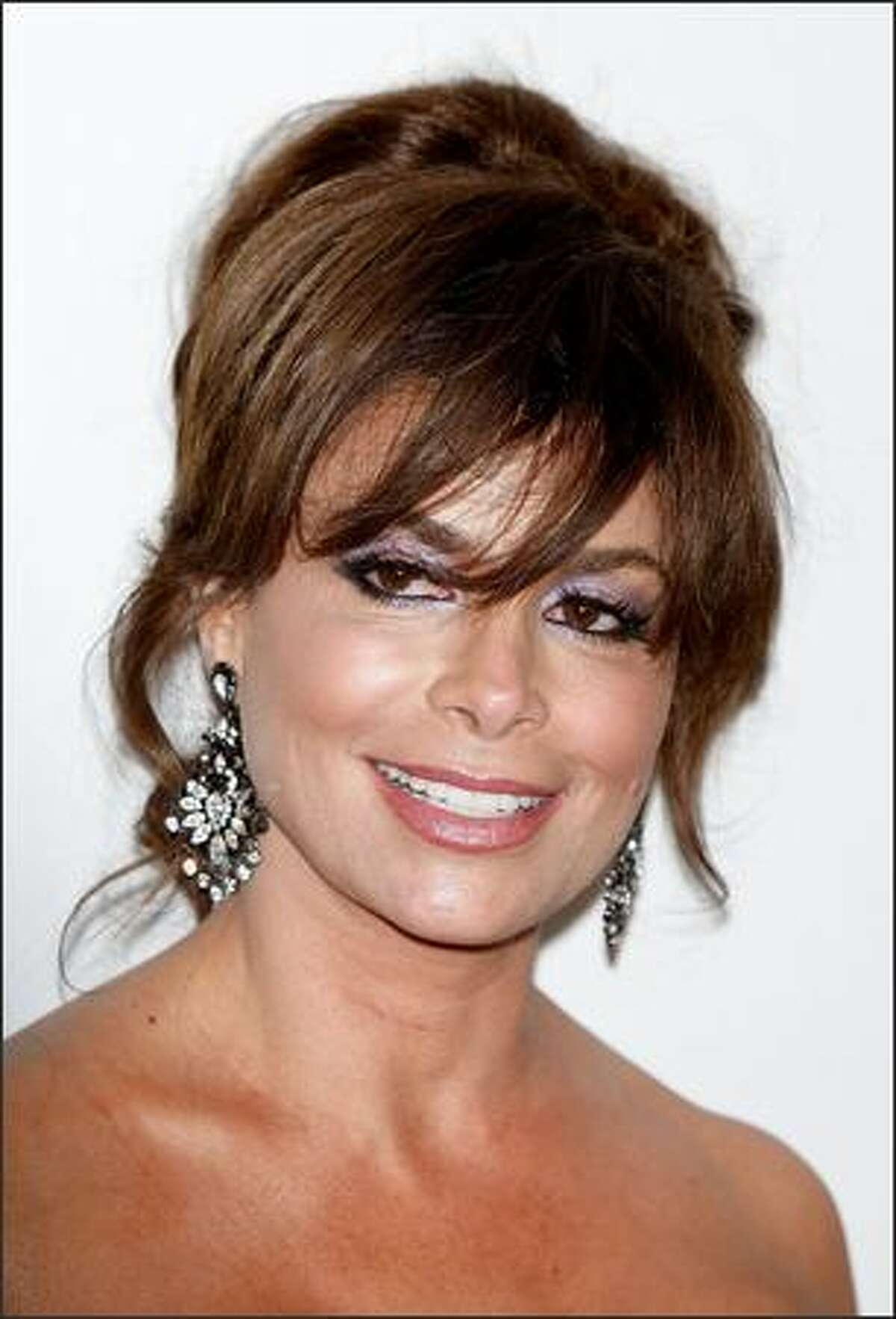 Singer Paula Abdul arrives.