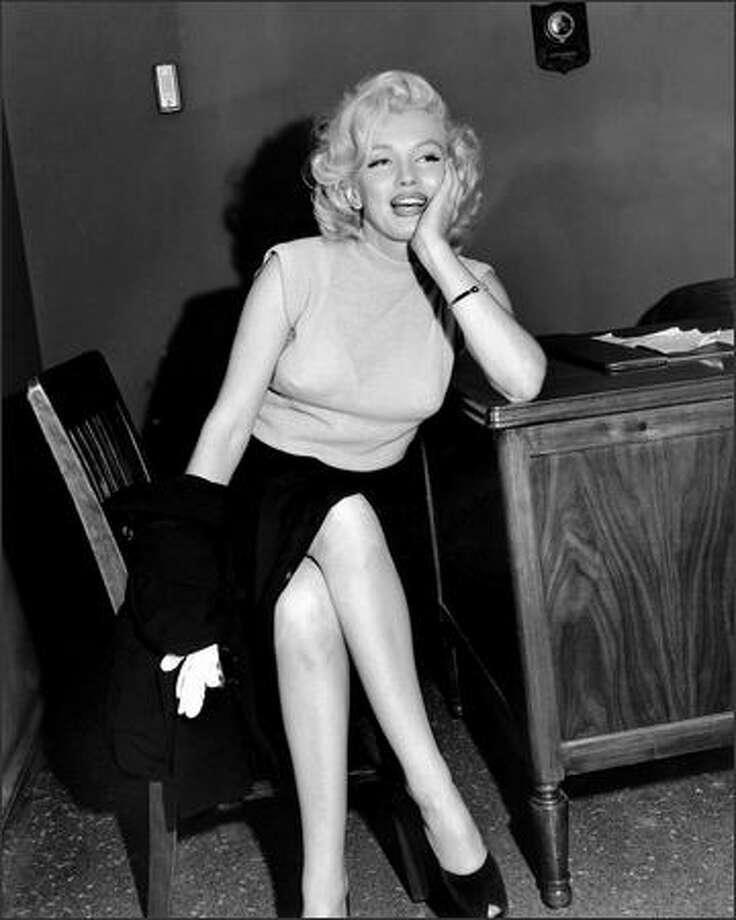 This candid shot of Marilyn Monroe was taken during a visit to the P-I office on July 30, 1953. (Seattle Post-Intelligencer Collection, Museum of History & Industry 1986.5.36274) Photo: Museum Of History And Industry