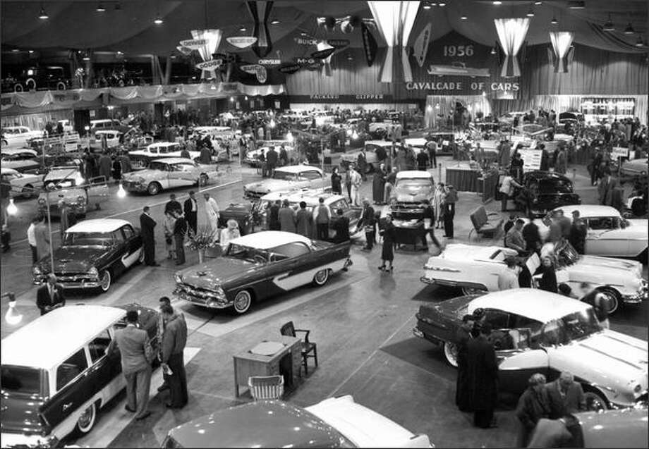 Seattle Auto Show, 1956, which included new models from Packard and Hillman. (Seattle Post-Intelligencer Collection, Museum of History & Industry 20400) Photo: Museum Of History And Industry