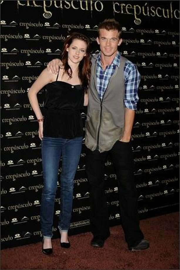 "Actress Kristen Stewart and actor Cam Gigandet attend ""Twilight"" photocall at the Hotel ME on Monday in Madrid, Spain. Photo: Getty Images"