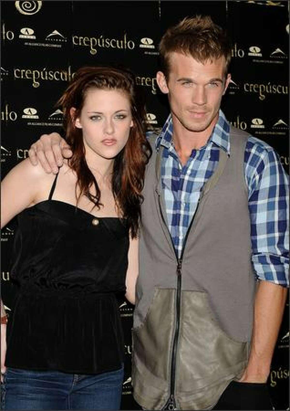 Actress Kristen Stewart and actor Cam Gigandet attend