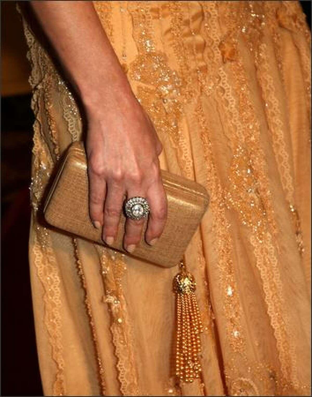Actress Debra Messing (detail) arrives.
