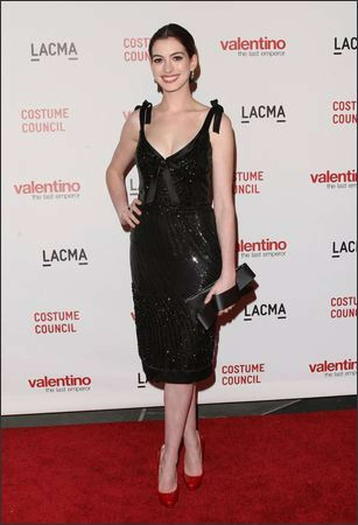 Actress Anne Hathaway attends the Los Angeles premiere of