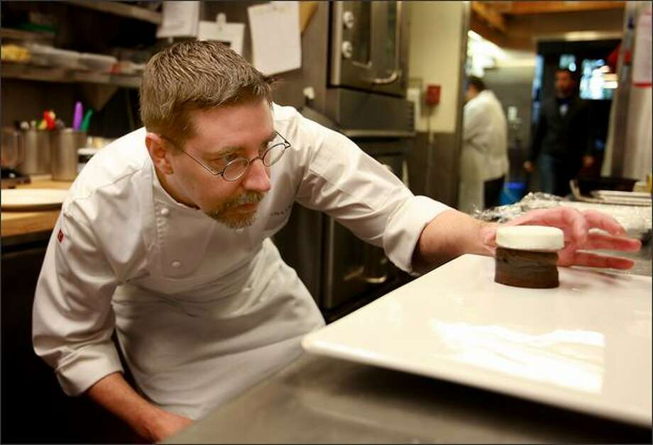 Neil Robertson, the pastry chef at Canlis restaurant, created a dessert recipe that P-I readers can make for their sweeties this – or any other – Valentine's Day. Photo: Scott Eklund/Seattle Post-Intelligencer