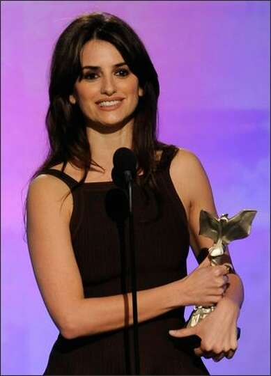 Actress Penelope Cruz accepts Best Supporting Female Award for