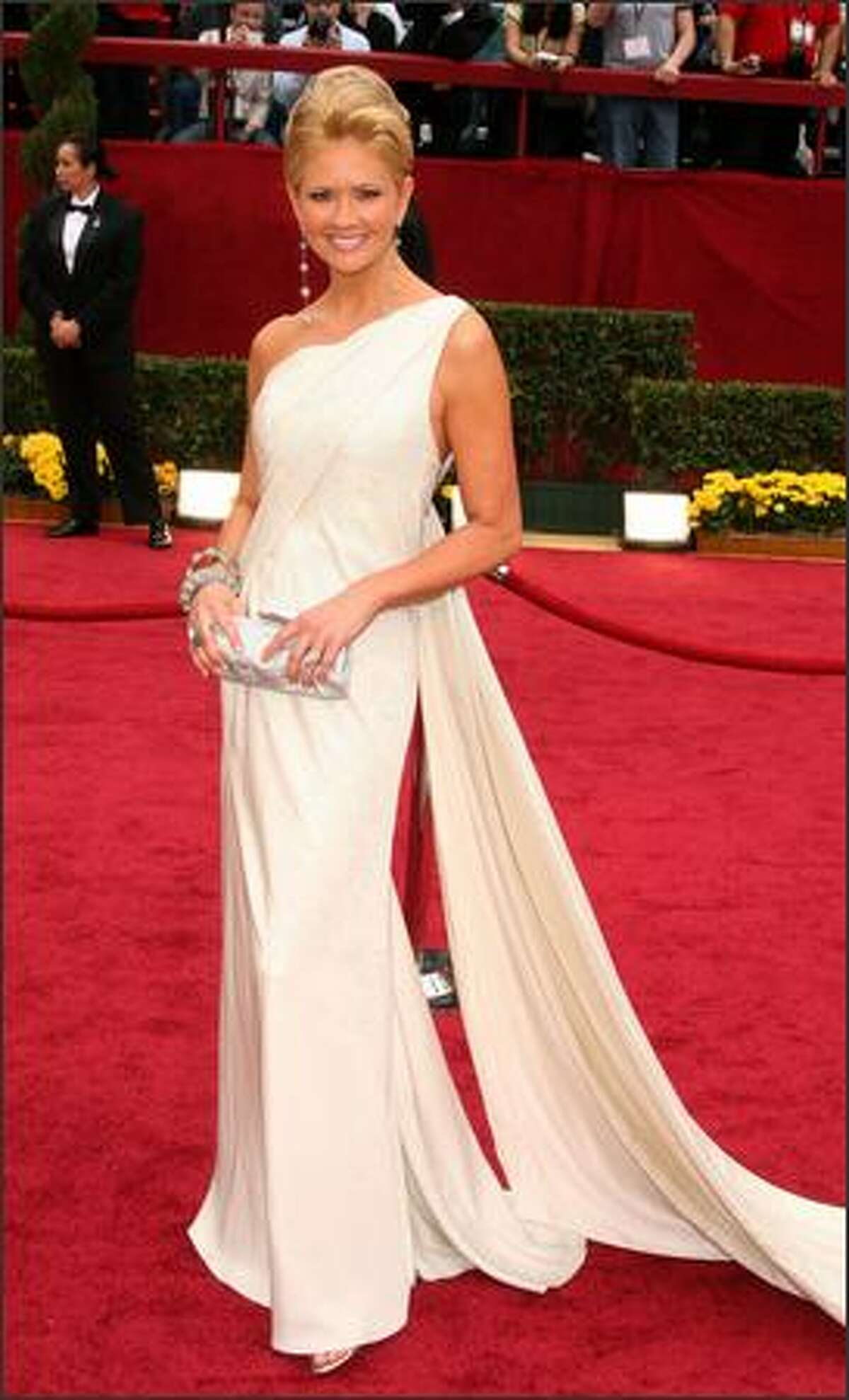 TV personality Nancy O'Dell arrives at the 81st Annual Academy Awards held at Kodak Theatre in Los Angeles, California.