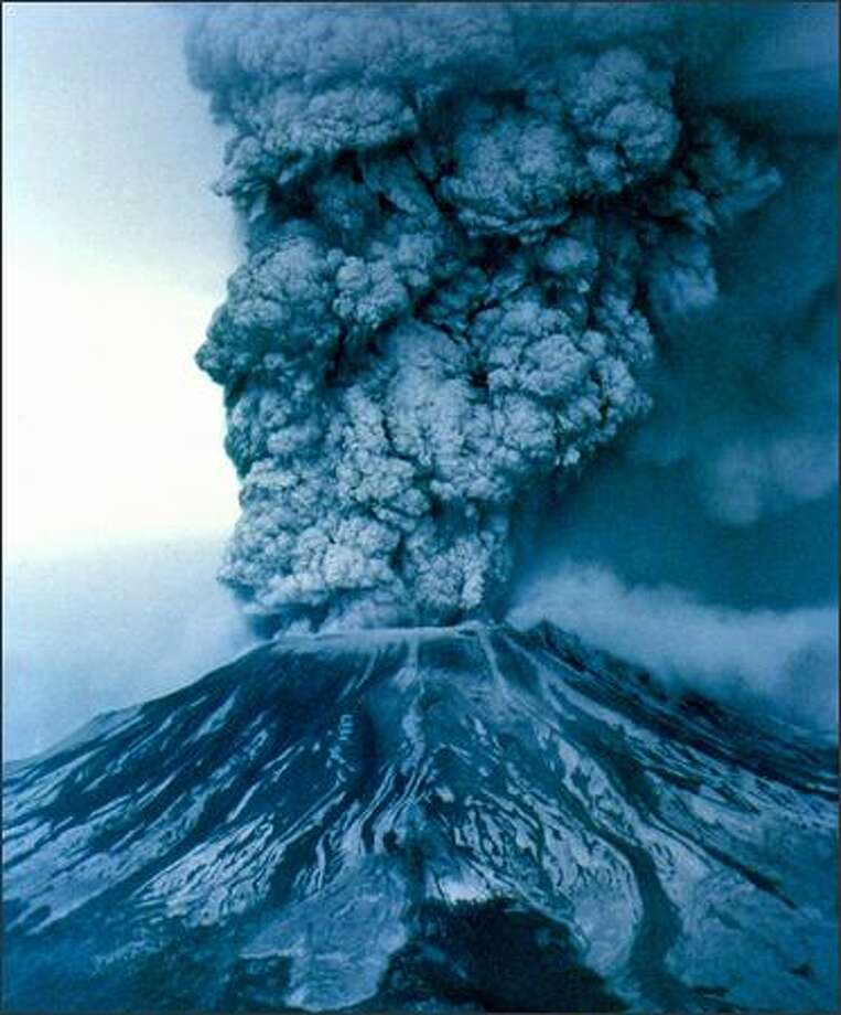 May 18, 1980 -- Mount St. Helens erupted causing widespread damage and sent ash thousands of feet into the air. Photo: Grant M. Haller, Seattle Post-Intelligencer