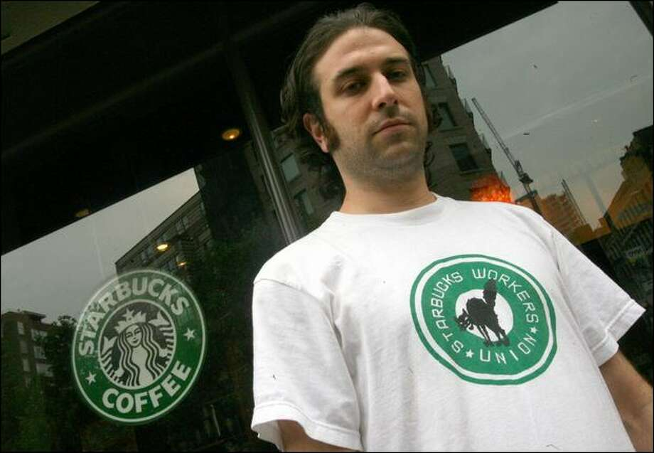 Daniel Gross, a founder of the Starbucks organizing efforts, says low wages and insecure work hours make it tough for baristas to make ends meet. Photo: Mary Altaffer/Associated Press