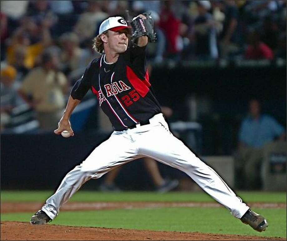 The Mariners' signing of right-handed reliever Josh Fields ended  a nine-month courtship with their 2008 first-round draft pick. Photo: University Of Georgia Photo