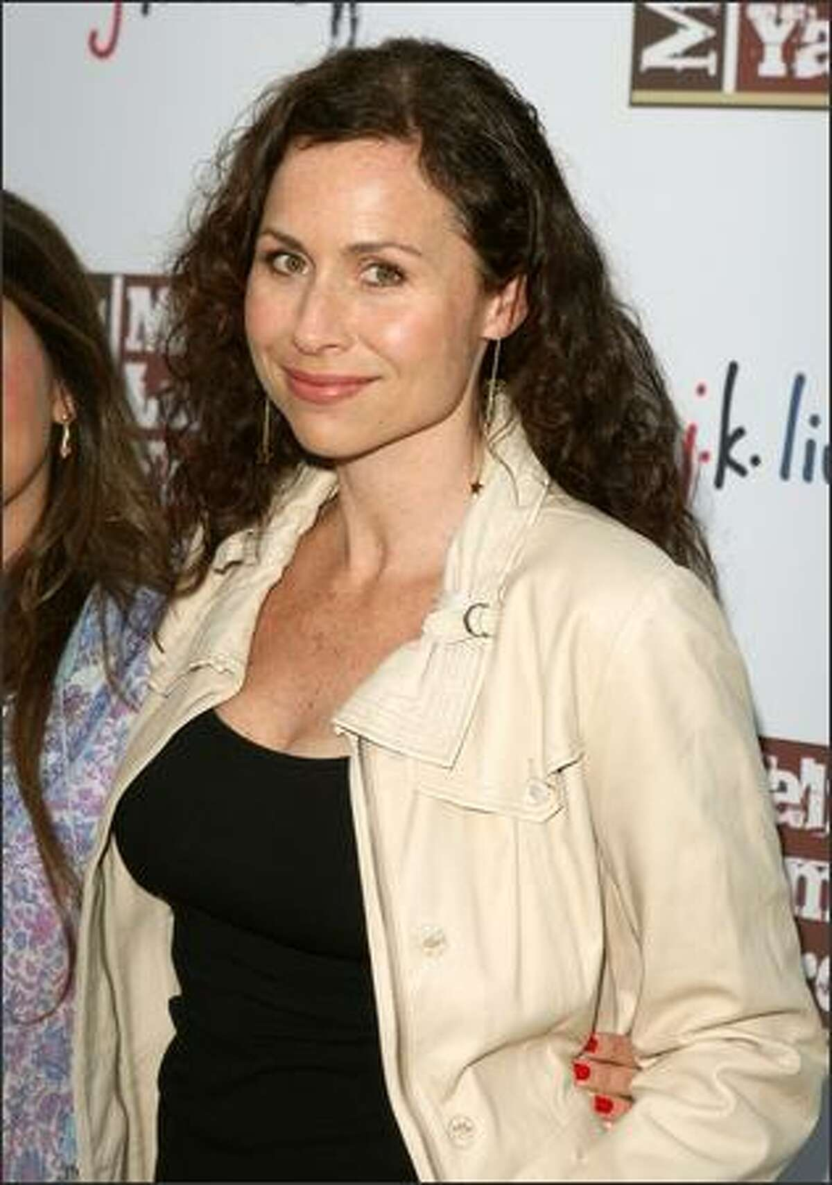 Actress Minnie Driver attends the Malibu Lumber Yard grand opening held at the Malibu Lumber Yard in Malibu, Calif.