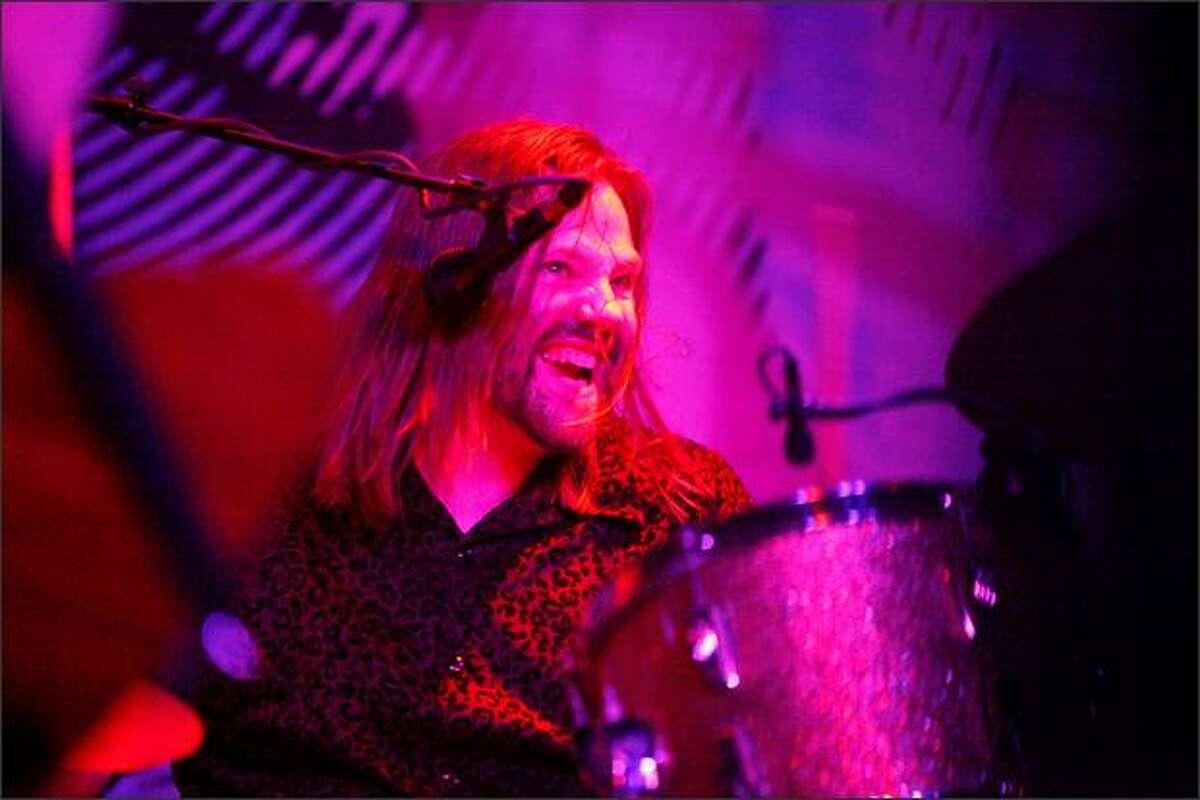 Drummer Kelly Van Camp of Flight to Mars performs on Saturday. (Thom Weinstein/seattlepi.com)
