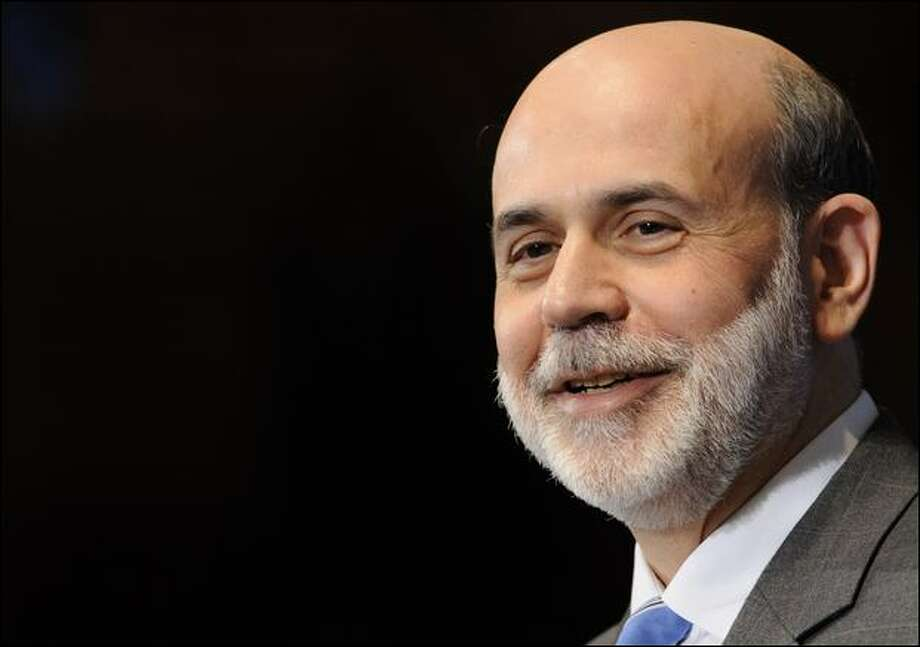"""""""If we can take strong and aggressive action ... we can begin to see improve- ments in 2009,"""" Ben Bernanke says. Photo: Susan Walsh/Associated Press"""