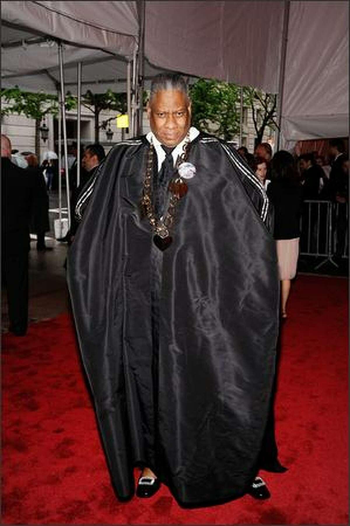 """Editor-at-large for Vogue magazine Andre Leon Talley attends """"The Model as Muse: Embodying Fashion"""" Costume Institute Gala at The Metropolitan Museum of Art in New York City."""