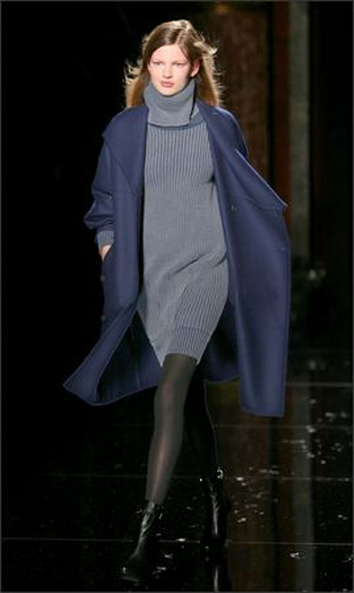 A model presents a creation from McCartney's fall/winter 2006-07 collection shown in Paris.