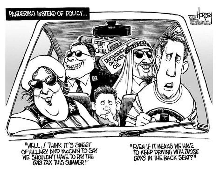 On the gas tax... Photo: David Horsey, Seattle Post-Intelligencer