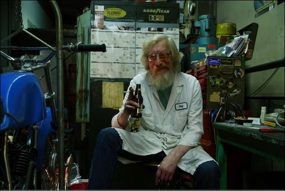 Phil Weigel ran MSI, Motorcycle Service Inc., in Georgetown for 35 years. Photo: Rebecca Bolte
